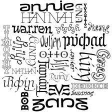 names-collage